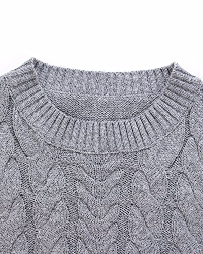 ZANZEA Women Casual Cable Knit Oversized Baggy Long Pullover Knitted Plain Sweater Jumper Tops Shirt 4