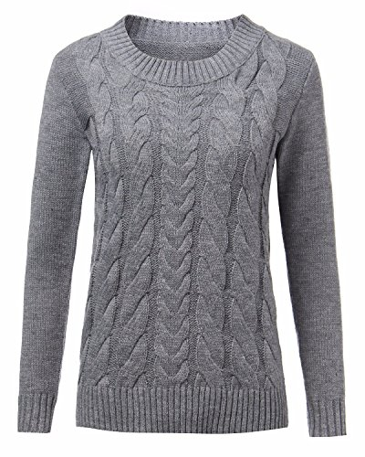 ZANZEA Women Casual Cable Knit Oversized Baggy Long Pullover Knitted Plain Sweater Jumper Tops Shirt 7