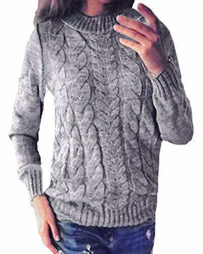 ZANZEA Women Casual Cable Knit Oversized Baggy Long Pullover Knitted Plain Sweater Jumper Tops Shirt 1