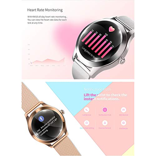 ZDY Smart Watch KW10, Round Touch Screen IP68 Waterproof Smartwatch for Women's Period, Fitness Tracker with Heart Rate… 3