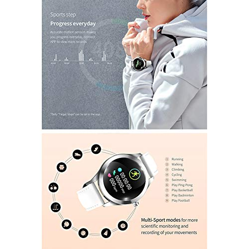 ZDY Smart Watch KW10, Round Touch Screen IP68 Waterproof Smartwatch for Women's Period, Fitness Tracker with Heart Rate… 5