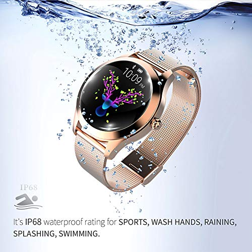 ZDY Smart Watch KW10, Round Touch Screen IP68 Waterproof Smartwatch for Women's Period, Fitness Tracker with Heart Rate… 6