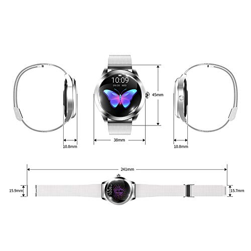 ZDY Smart Watch KW10, Round Touch Screen IP68 Waterproof Smartwatch for Women's Period, Fitness Tracker with Heart Rate… 8