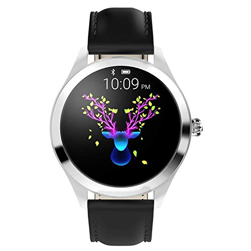 ZDY Smart Watch KW10, Round Touch Screen IP68 Waterproof Smartwatch for Women's Period, Fitness Tracker with Heart Rate… 1
