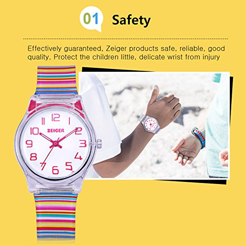Zeiger Kids Watches Sports Watch for Girls and Boys Lovely Student Watch Resin Strap Watch Best Gift for Child 4