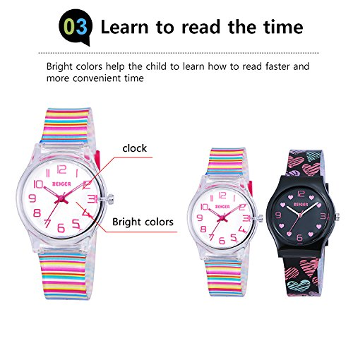 Zeiger Kids Watches Sports Watch for Girls and Boys Lovely Student Watch Resin Strap Watch Best Gift for Child 5