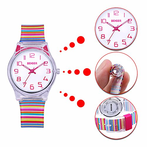 Zeiger Kids Watches Sports Watch for Girls and Boys Lovely Student Watch Resin Strap Watch Best Gift for Child 7