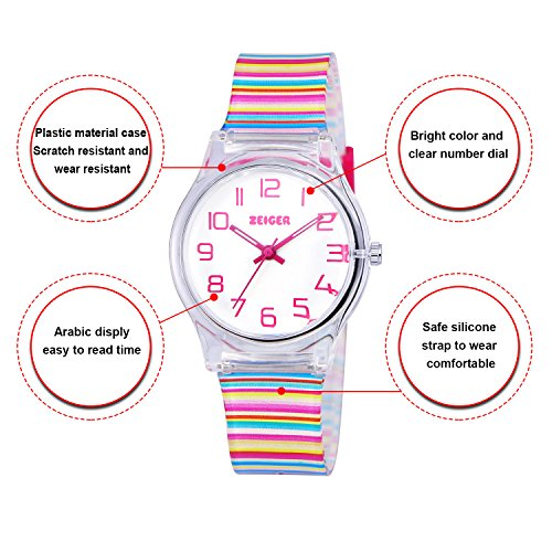 Zeiger Kids Watches Sports Watch for Girls and Boys Lovely Student Watch Resin Strap Watch Best Gift for Child 8