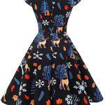 bbonlinedress Women's 50s 60s A Line Rockabilly Dress Cap Sleeve Vintage Swing Party Dress 18