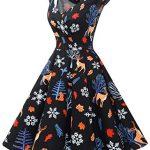 bbonlinedress Women's 50s 60s A Line Rockabilly Dress Cap Sleeve Vintage Swing Party Dress 20