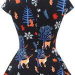 bbonlinedress Women's 50s 60s A Line Rockabilly Dress Cap Sleeve Vintage Swing Party Dress 23