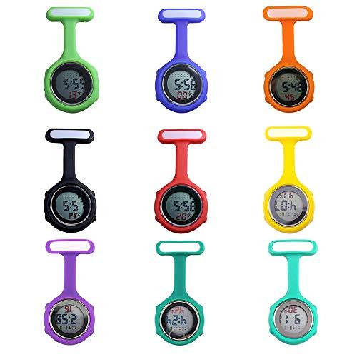 beautijiam Women Silicone Digital Display Dial Nurse Watch Lapel Hanging Electric Pocket Fob Watch 3