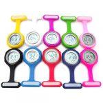 beautijiam Women Silicone Digital Display Dial Nurse Watch Lapel Hanging Electric Pocket Fob Watch 24