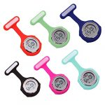beautijiam Women Silicone Digital Display Dial Nurse Watch Lapel Hanging Electric Pocket Fob Watch 25