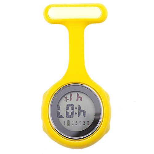 beautijiam Women Silicone Digital Display Dial Nurse Watch Lapel Hanging Electric Pocket Fob Watch 7