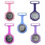 beautijiam Women Silicone Digital Display Dial Nurse Watch Lapel Hanging Electric Pocket Fob Watch 28