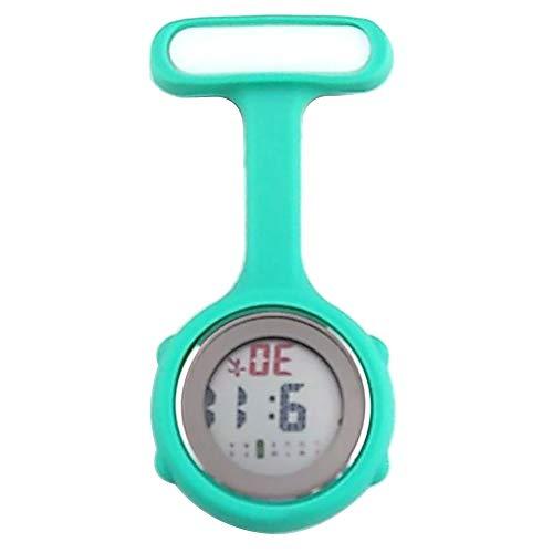 beautijiam Women Silicone Digital Display Dial Nurse Watch Lapel Hanging Electric Pocket Fob Watch 1