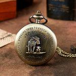 eBoutik - Mens FOB Pocket Watch, Vintage Style Pocket Watch with Chain, Pendant Pocket Watch for Son Greatest Dad… 20