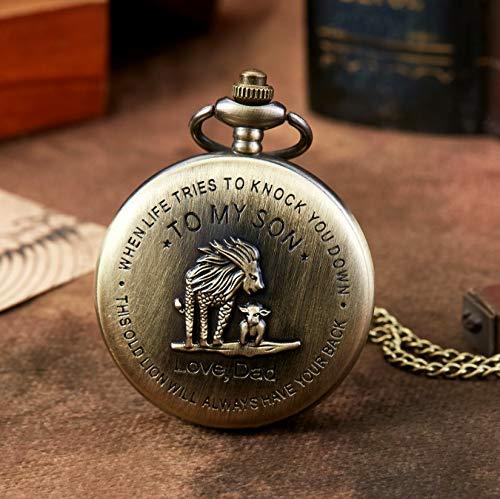 eBoutik - Mens FOB Pocket Watch, Vintage Style Pocket Watch with Chain, Pendant Pocket Watch for Son Greatest Dad… 3