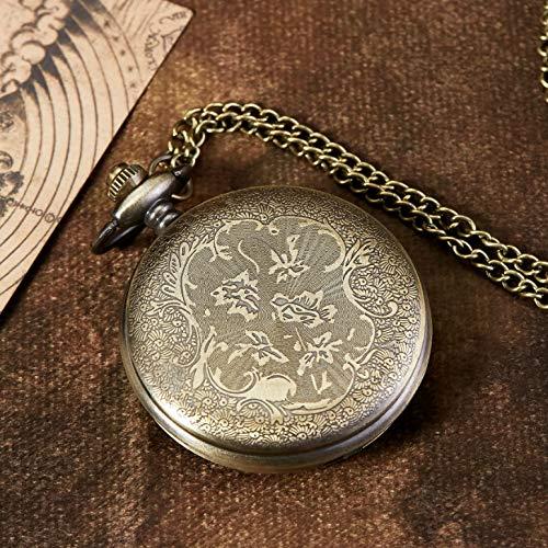 eBoutik - Mens FOB Pocket Watch, Vintage Style Pocket Watch with Chain, Pendant Pocket Watch for Son Greatest Dad… 4