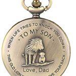 eBoutik - Mens FOB Pocket Watch, Vintage Style Pocket Watch with Chain, Pendant Pocket Watch for Son Greatest Dad… 19
