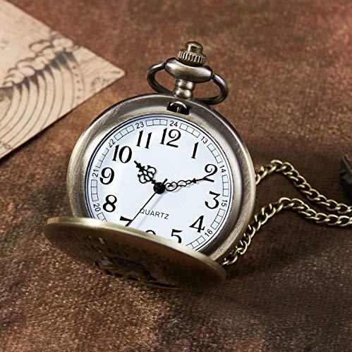 eBoutik - Mens FOB Pocket Watch, Vintage Style Pocket Watch with Chain, Pendant Pocket Watch for Son Greatest Dad… 5