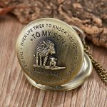 eBoutik - Mens FOB Pocket Watch, Vintage Style Pocket Watch with Chain, Pendant Pocket Watch for Son Greatest Dad… 23