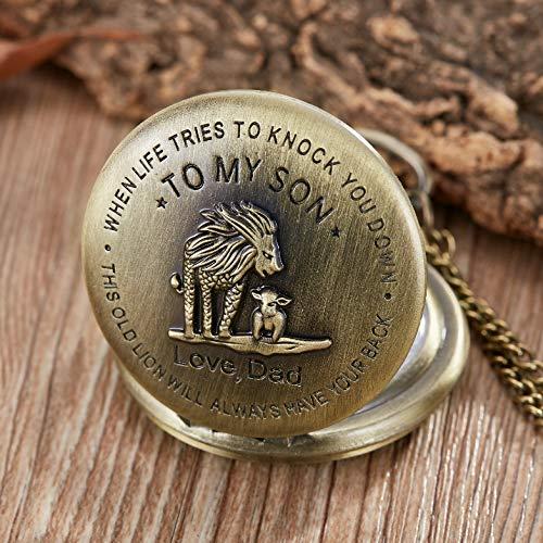 eBoutik - Mens FOB Pocket Watch, Vintage Style Pocket Watch with Chain, Pendant Pocket Watch for Son Greatest Dad… 6