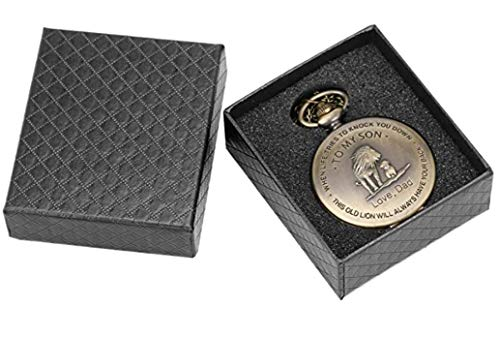 eBoutik - Mens FOB Pocket Watch, Vintage Style Pocket Watch with Chain, Pendant Pocket Watch for Son Greatest Dad… 7