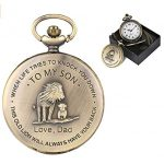 eBoutik - Mens FOB Pocket Watch, Vintage Style Pocket Watch with Chain, Pendant Pocket Watch for Son Greatest Dad… 25
