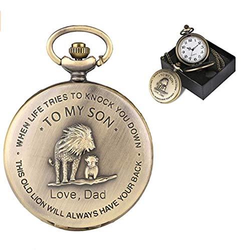 eBoutik - Mens FOB Pocket Watch, Vintage Style Pocket Watch with Chain, Pendant Pocket Watch for Son Greatest Dad… 8
