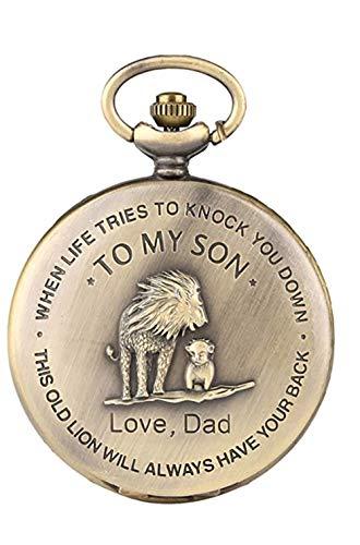 eBoutik - Mens FOB Pocket Watch, Vintage Style Pocket Watch with Chain, Pendant Pocket Watch for Son Greatest Dad… 1