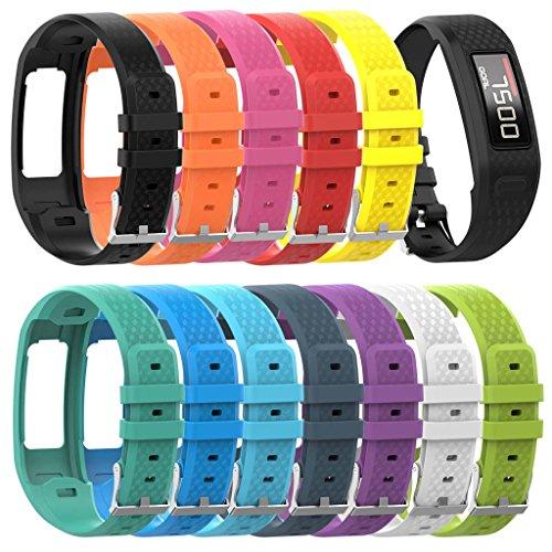 qianqian56 Replacement Soft Silicone Wrist Watch Band Strap For Garmin Vivofit 1/2 Bracelet 8