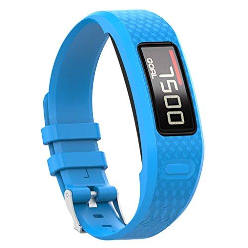 qianqian56 Replacement Soft Silicone Wrist Watch Band Strap For Garmin Vivofit 1/2 Bracelet 10