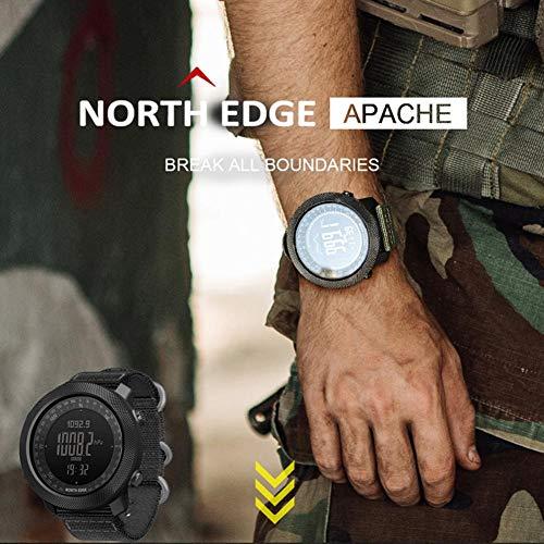 vogueyouth Men's New Altimeter Barometer Compass Waterproof 50m Activity Tracker Watch Smart Fitness Activity Tracker… 5