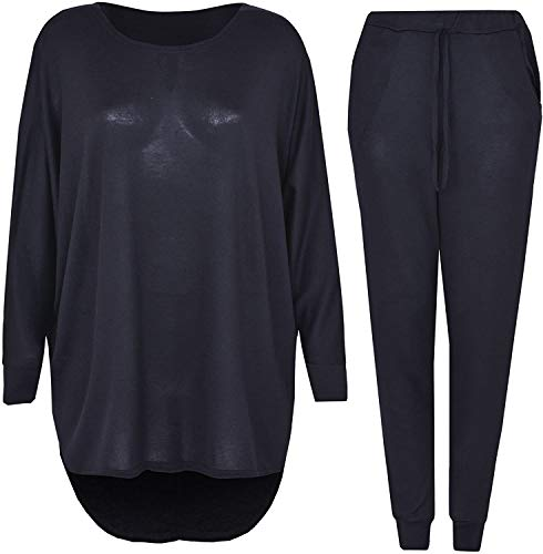 LUXE DIVA 2 Piece Track Suit Set High Low Top and Bottoms Casual Loungewear Sweatshirt Jog 1