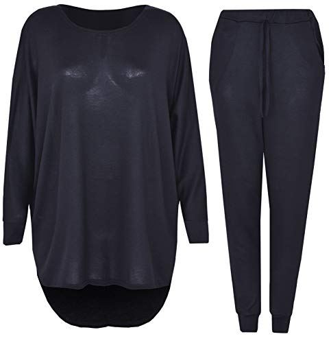 2 Piece Track Suit Set High Low Top and Bottoms Casual Loungewear Sweatshirt Joggers Set 1