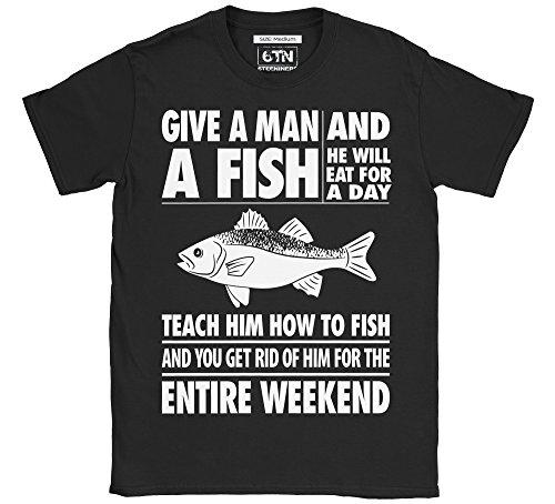 6TN Mens Triple Pack of Mens Fishing/Angling Themed T-Shirts 5