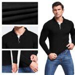 AIYINO Men's Polo Shirt Short/Long Sleeve Polo Tee Contrasting Colors Golf Tennis T-Shirt 16