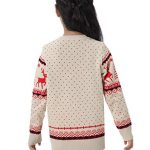 Abollria Women Jumpers Christmas Reindeer Long Sleeve Chunky Knitted Ribbed Sweater Jumpers Knitwear Top 18