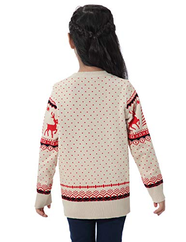 Abollria Women Jumpers Christmas Reindeer Long Sleeve Chunky Knitted Ribbed Sweater Jumpers Knitwear Top 3