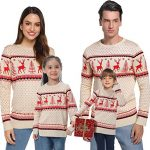 Abollria Women Jumpers Christmas Reindeer Long Sleeve Chunky Knitted Ribbed Sweater Jumpers Knitwear Top 17