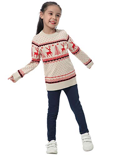 Abollria Women Jumpers Christmas Reindeer Long Sleeve Chunky Knitted Ribbed Sweater Jumpers Knitwear Top 5