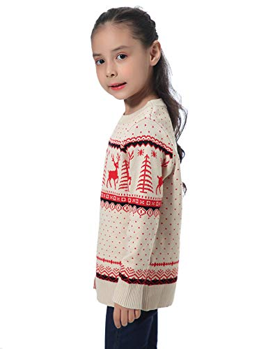 Abollria Women Jumpers Christmas Reindeer Long Sleeve Chunky Knitted Ribbed Sweater Jumpers Knitwear Top 6