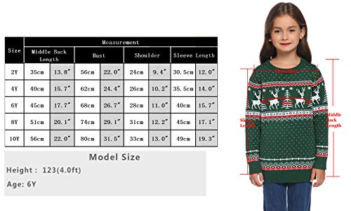 Abollria Women Jumpers Christmas Reindeer Long Sleeve Chunky Knitted Ribbed Sweater Jumpers Knitwear Top 8