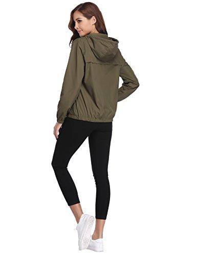 Abollria Raincoats Women Waterproof with Hood Lightweight Active Outdoor Windbreaker Rain Jacket 3