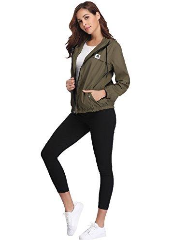 Abollria Raincoats Women Waterproof with Hood Lightweight Active Outdoor Windbreaker Rain Jacket 5