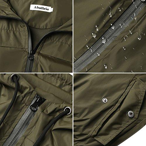 Abollria Raincoats Women Waterproof with Hood Lightweight Active Outdoor Windbreaker Rain Jacket 6