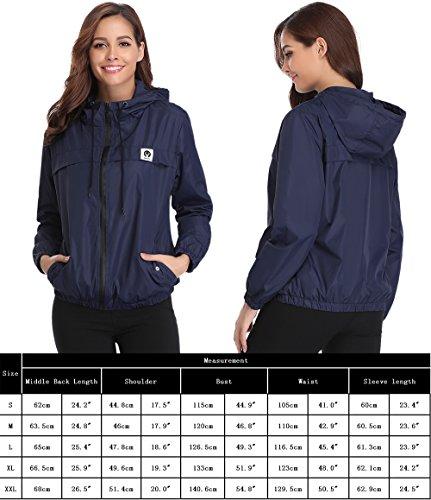 Abollria Raincoats Women Waterproof with Hood Lightweight Active Outdoor Windbreaker Rain Jacket 7