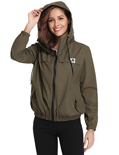 Abollria Raincoats Women Waterproof with Hood Lightweight Active Outdoor Windbreaker Rain Jacket 1